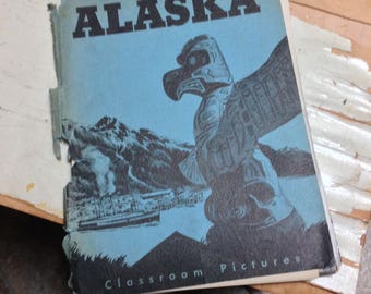 "RARE - ALASKA Teacher's Materials ""Classroom Pictures"" [Social Studies module with 30+ photos] 1950's"