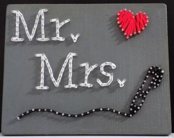 Wedding string art