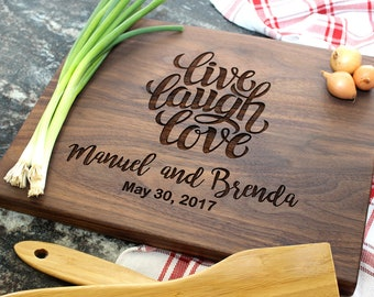 Personalized Cutting Board - Engraved Cutting Board, Custom Cutting Board, Housewarming Gift, Wedding Gift, Engagement, Anniversary (07)