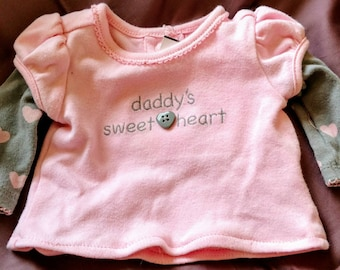 Daddy's Sweetheart Puppy Shirt Size XXSmall