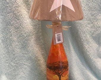 Bottle lamp bottle lamp Africa elephant lamp