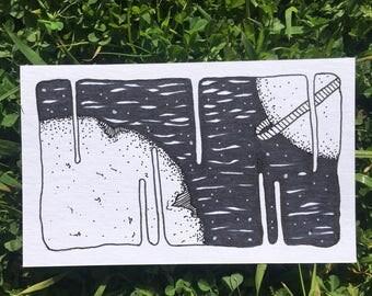 Orginal - Ink and Paper - 3x5
