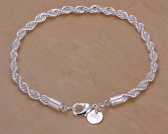 925 Silver jewelry bracelet top quality fine processed