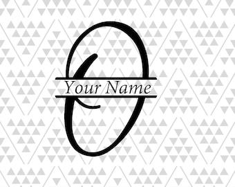 Split vine letters etsy for Letter o monogram
