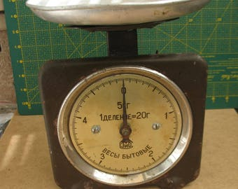 Vintage scale Rustic Scales desk scale old metal scale Kitchen scale Soviet scales Kitchen design Farmhouse Decor Kitchen Decor rustic decor