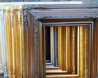 Traditional compo ornate wood frame, dark walnut, wood picture frame, wedding frame, portrait frame, custom picture frame, custom frame,