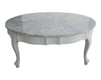Vintage French Provincial Marble Coffee Table