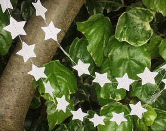 Star garland, White stars, Decor, Party Decor, Weddings, Baby Showers, Celebrations