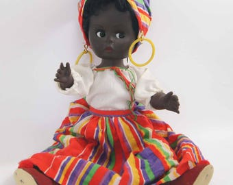 Vintage Black Doll (Made in England)