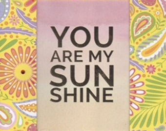 You Are My Sunshine 8x10 Girl or Teen Room Decor