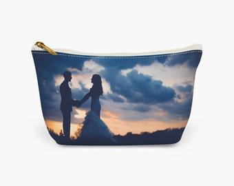 YOUR PHOTO Cosmetic bag/Makeup bag/Wash bag, Personalised clutch, Custom cosmetic purse, Photo trinket pouch, Bridesmaid/Hen Do Gift