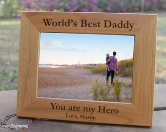 Fathers Day Gift from Son Personalized Engraved Dad Photo Frame Daddy Frame Gifts for Dad Picture Frame, Daddy Gifts, First time Dad Gifts