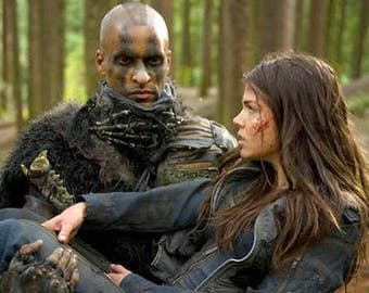 Post apocalyptic half mask - Lincoln mask - Trikru clan - Grounders of the 100