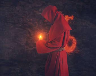 Video Intro or Outro, Monk with a candle