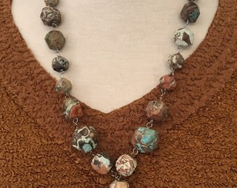 Turquoise Colored Jasper Necklace
