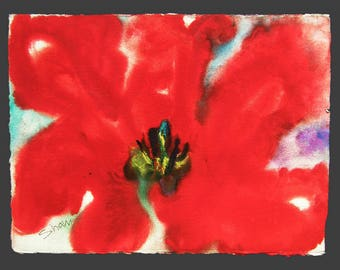Red, Red, Red - original watercolor painting