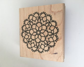 Rubber Stamp - Intricate Design - Scrapbooking - Card Making Supplies -