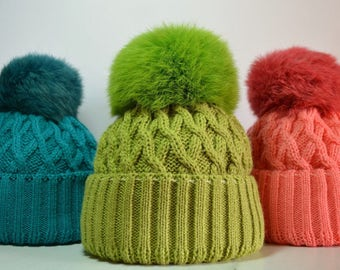 Hat knitted cap Hats Hand made Wool