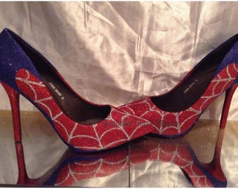 Spiderman inspired heels