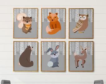 Printable Boy Room Art, Woodland Nursery Decor, Boy Nursery Decor, Boy Nursery Wall Art, Woodland Nursery Wall Art, Boy Room Decorations