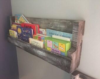 Rustic Pallet Book Shelf