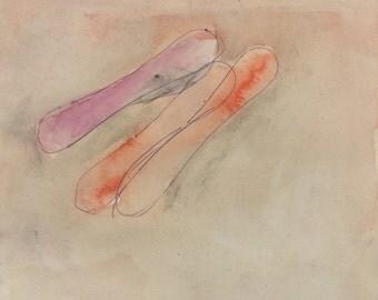 contemporary minimalist original gouache painting