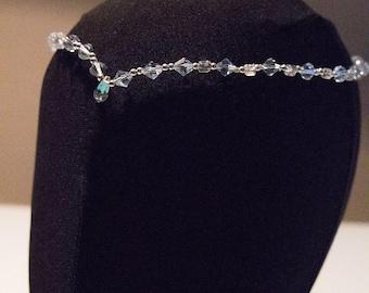 Beautiful Preciosa rhinestones hair wreath, headpieces, Ballet blue headband, tiara, tiara, Bridal head band, Crystal bead headpiece, hair accessories