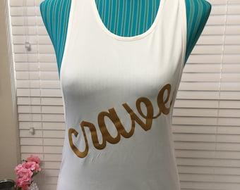 Crave tank top white