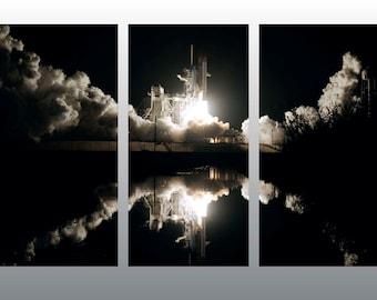 Rocket Launch Multi Panel Art Print