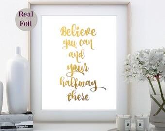 Foil Print, A4 Gold Foil Quote, Office art prints, Home Decor, inspirational print, Gold Foil Art Print, gold foil print, gold foil poster