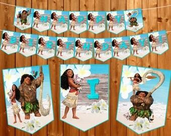 Maui Moana birthday Banner birthday outfit Instant dowload Moana printable Birthday decorations birthday Party supplies party decorations