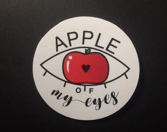 "Sticker ""Apple of my eyes"""