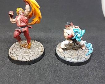 Street fightet - Ryu vs Ken miniature set 2 miniatures by qminis