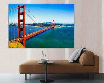 Canvas print of  Golden Gate Bridge, San Francisco wall art, USA. wall art, canvas print, home or office decor & interior