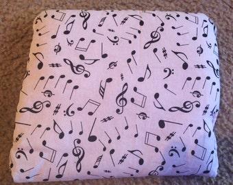 White Music Note Rice Bag