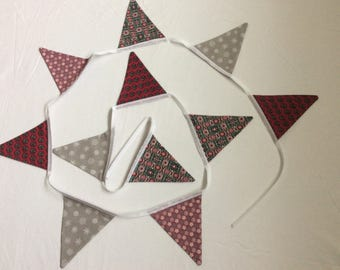 Handmade Fabric Bunting in Funky Mix n Match Fabrics