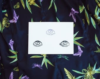 Embossed Third Eye Greeting Card