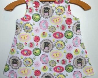 Girl spring/summer dress sleeveless cotton snail rabbit bee Dress