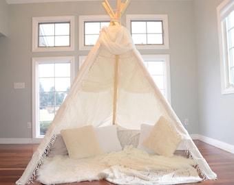 TEEPEE ADULT; adult teepee; adult tepee; boho tent; wedding teepee; wedding backdrop; boho teepee; boho tepee; 8 ft teepee; Olivia