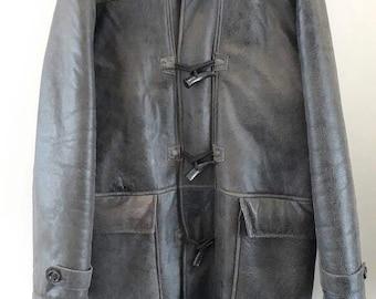 Men Leather Jacket Coat DANIER size M