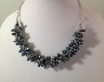 Kumihimo Crystal Bead Necklace