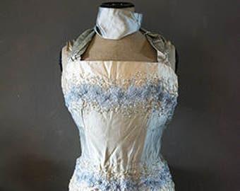 Exquisite French silk bodice corset