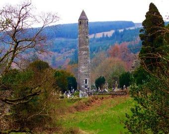 Round Tower, Glendalough, Co. Wicklow. Ireland.