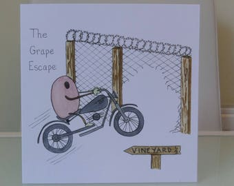 The Grape Escape, funny card