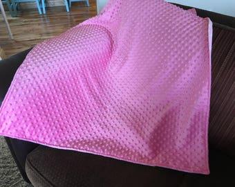 Cuddly Pink Minky Blanket