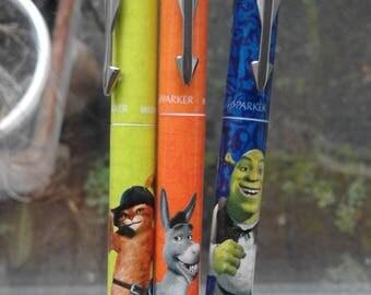 Parker limited edition Shrek fountain pens