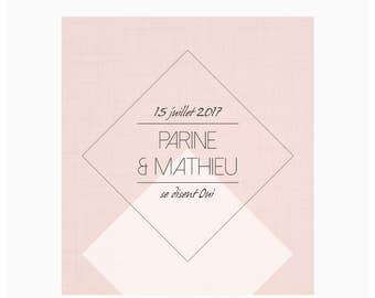 Wedding invitations - Diamond Blush
