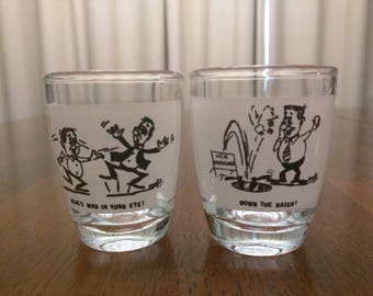 Vintage 1950's Shot Glasses Barware