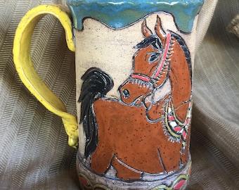 Arabian Bay Horse xLarge Mug