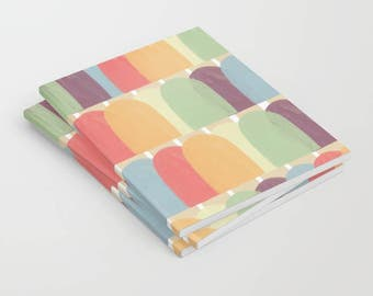 Popsicle Notebook, sketchbook, notebooks, lined, unlined, small notebook, journal, Notepads, pocket notebook, blank notebook, diary